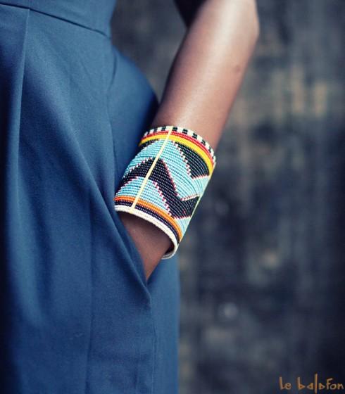 Bracelet manchette Massaï
